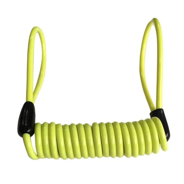 1.2m Safety Lanyard Spring Coil Rope Disc Brake Lock Reminder Cable Red