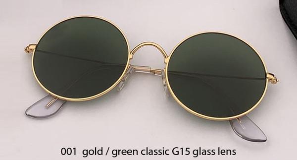 001 gold/G15 glass lens