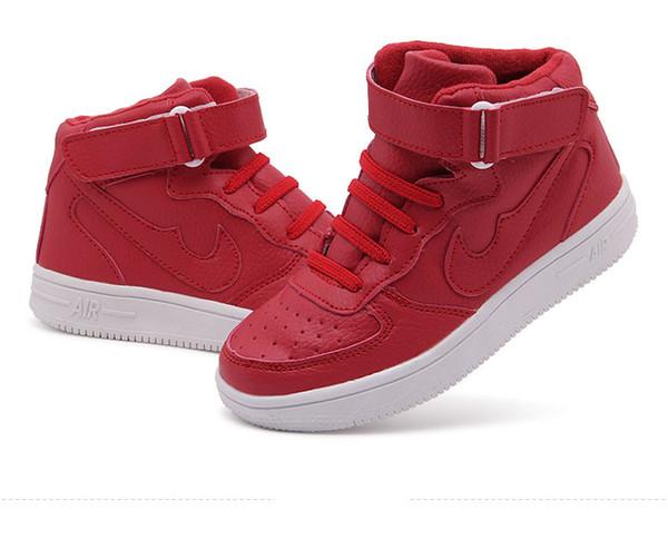 Sapatos infantis Jeff Sneaker Unisex Crianças pequenas Moda Preto Vermelho Casual Sneaker 2019 novo Confortável anti-slip peso leve babyshoes
