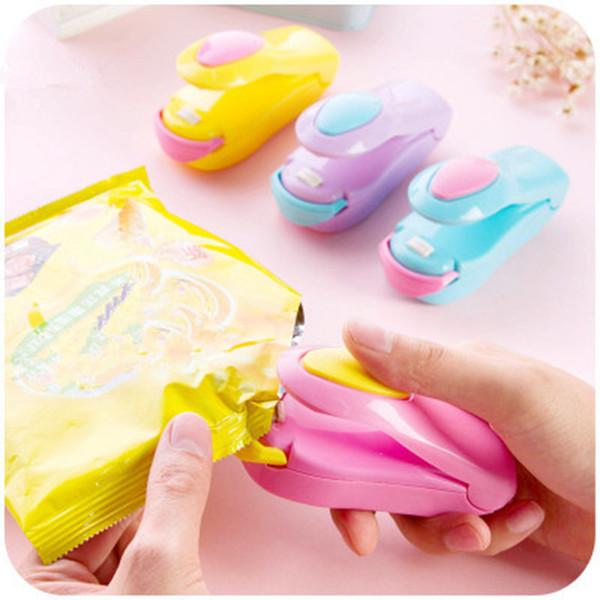 Termosigillatrice per sacchetti Mini termosaldatrice portatile Impulse Sealer Seal Kit di sacchetti di plastica per alimenti Sigillante per alimenti LJJZ349