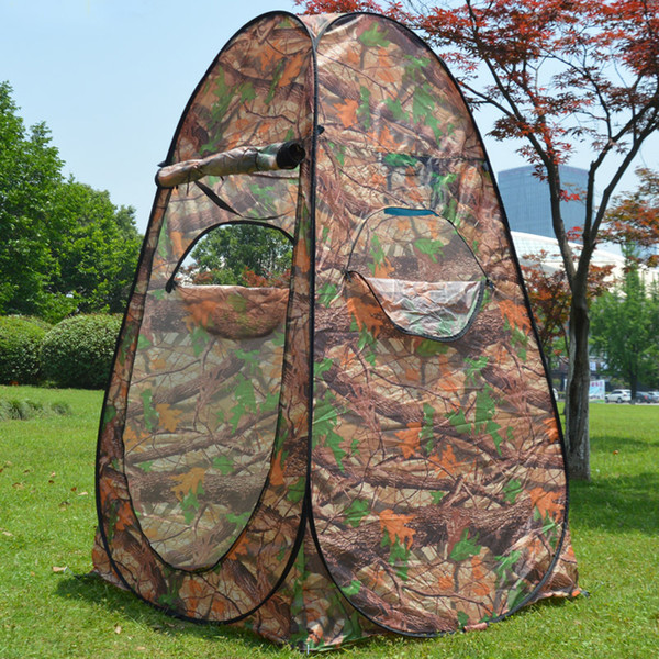 best selling 2 Sides Windows Portable Privacy Shower Toilet Camping Up Tent Camouflage UV function outdoor dressing tent photography tent