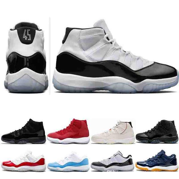 Concord 45 XI 11s Zapatillas de baloncesto para hombre Platino Tinte Gimnasio Rojo Gana como 96 Calzado de diseñador para hombre Moda de lujo para hombre sandalias de diseñador zapatos