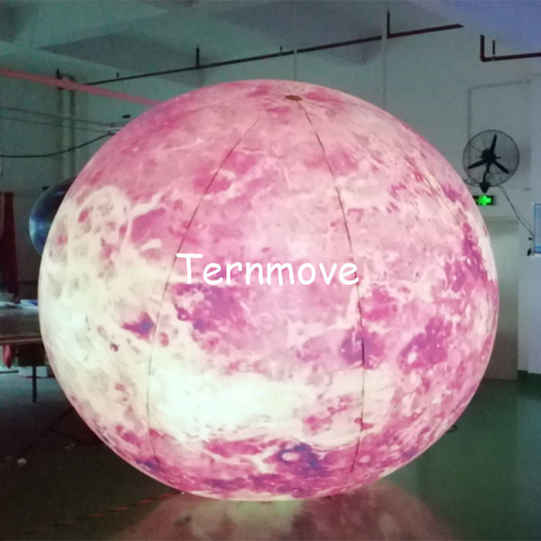 LED lighting 3M inflatable Sun balloon for party decoration customized Sun model toy for stage prop toy planet