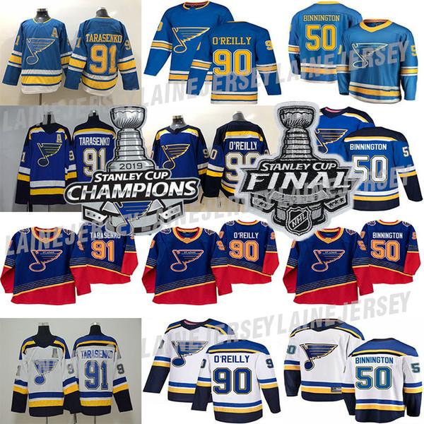 best selling 2019 Stanley Cup Champions jersey St. Louis Blues 50 Binnington Schwartz 90 Ryan O'Reilly Colton Parayko Schenn 91 Vladimir hockey jerseys