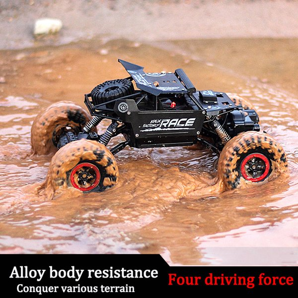 Rc Car 1 .3kg 4ch 4wd Rock Crawlers 4x4 Driving Car Double Motors Bigfoot Remote Control Model Off -Road Vehicle Toy