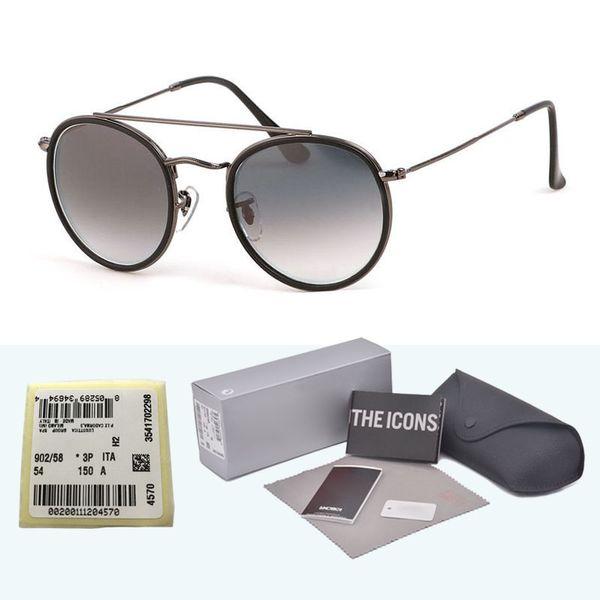 1pcs High Quality Classic Steampunk Sunglasses Men Women Brand designer Metal frame Glass Lens Retro Vintage sun glasses with box and label
