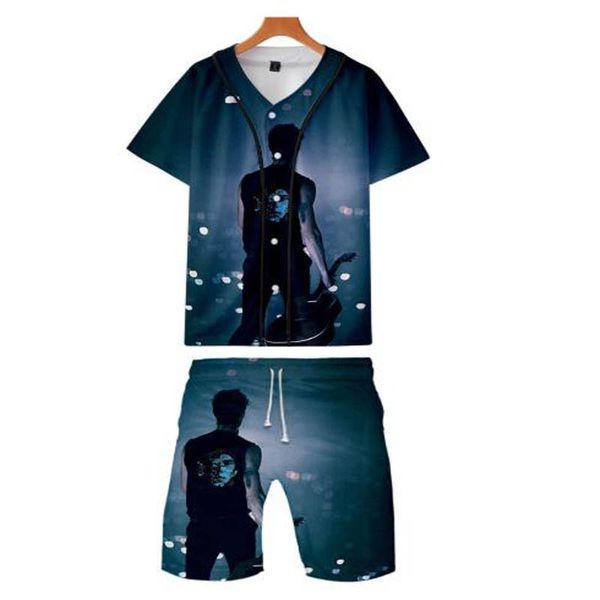 Neu Rapper shawn mendes Lässig Top Boy / Girl Atmungsaktiv 3D Print Lustige Fashion Baseball T-Shirts und Beachshorts Hip Hop Anzug