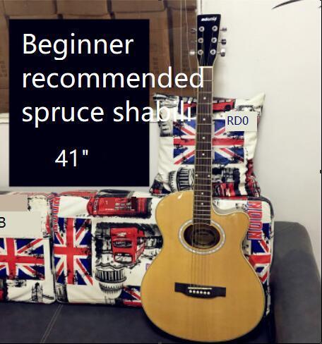 Стандартный 40-дюймовый фанеры свет гитары начинающих народная акустическая гитара музыкальный инструмент оптом бесплатная доставка
