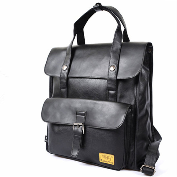 High Quality fashion Designer Briefcase Simple Mens Leather Briefcase Solid  Large Business Man Bag Laptop Bag Messenger Bag for Men 3a481ed0ff47f