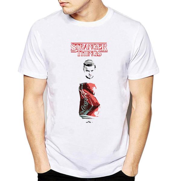 Stranger Things T Shirt Cola Tshirt Terror Movie T-shirt High Quality Print Tops Cartoon Tee 2019 Casual Camiseta Summer Clothes
