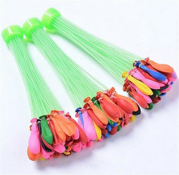 top popular DHL Water Filled Balloon Toy Bunch of Balloons Kid Magic Water Balloons Toys Filling Water Ballons Games Party 1pcs=3bunches= 111balloons 2020