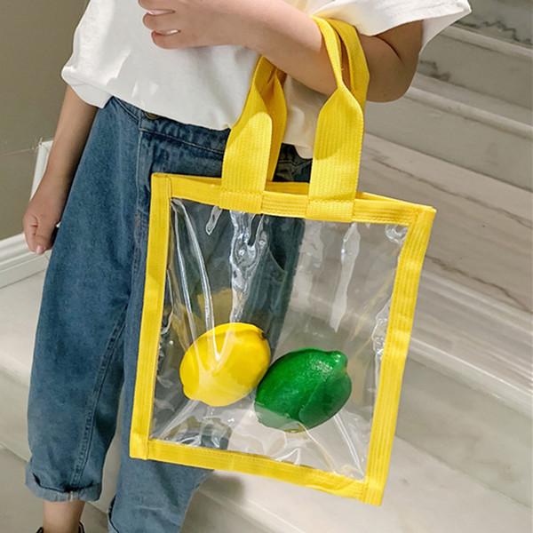 Mode Klar Frauen Transparente Schultertasche Kinder Transparente Handtaschen-Speicher-Beutel