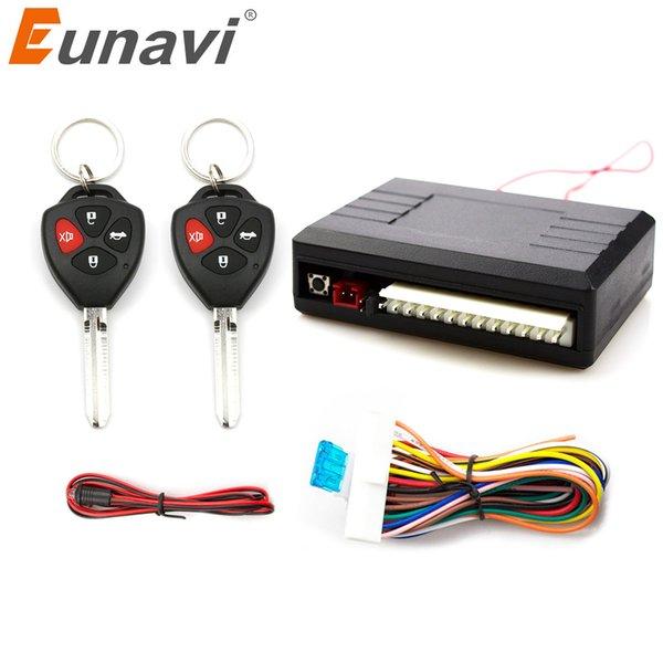 Eunavi Universal Auto Remote Kit Central Kit Lock UnlocK Système d'entrée sans clé LED de verrouillage central Indiquent le bouton de déverrouillage du coffre