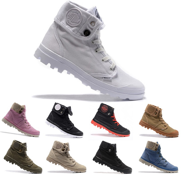 Original Palladium Pallabrouse Boots Men Women Triple White Black Luxury Designer Boot Mens Trainers Army Green Ankle Size 36 45 Low Boots Cheap Shoes