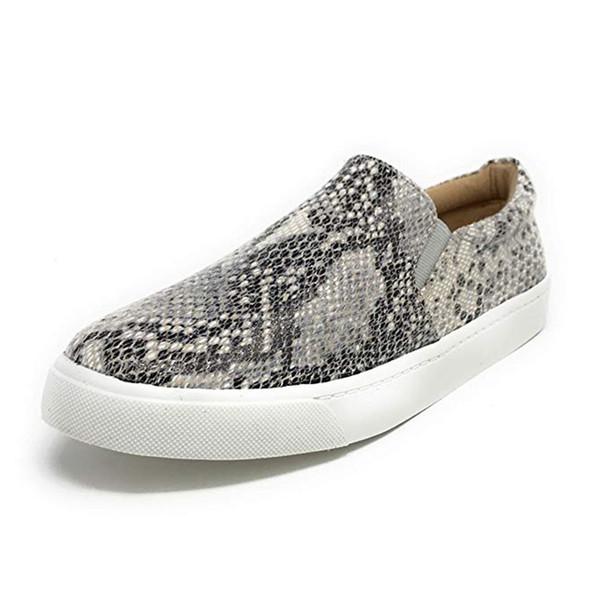 muqgew snake print casual flat shoes 2019 women fashion retro serpentine loafers lazy flat round toe beach shoes