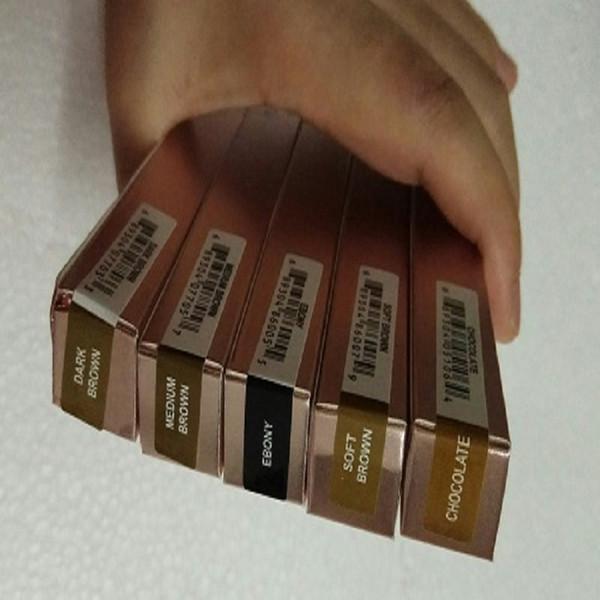 MAQUIAGEM Lápis de sobrancelha dupla BRONZE LÁPIS CRAYON EBONY / SOFT BROWN / MARROM MARROM / MARROM ESCURO / chocolate DHL Frete grátis