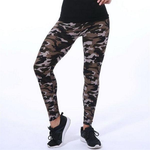 2019 VISNXGI New Fashion Camouflage Printing Elasticity Leggings Camouflage Fitness Pant Legins Casual Milk Legging For Women