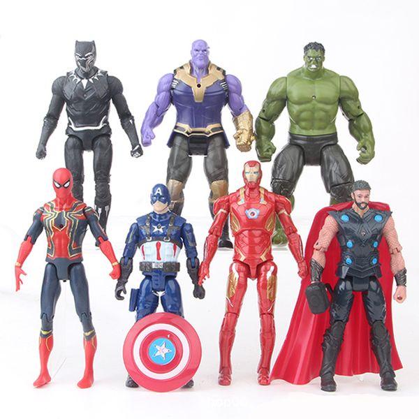 Compre 7 Estilos Vingadores Brinquedos Super Desenhos Animados