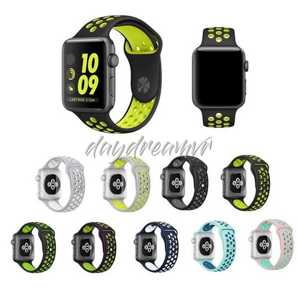 Hot sale cheapest Sport Silicone Straps Bands For Apple Watch Series colorful Strap Band Bracelet watchband rubber wristbelt Free shipping