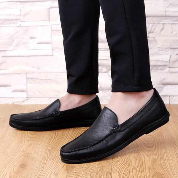 Men Casual Flat Shoes Hollow Mesh Soft Sole Loafers Shoes Mens Fashion Formal Business Driving Boat Plus Size 45 46