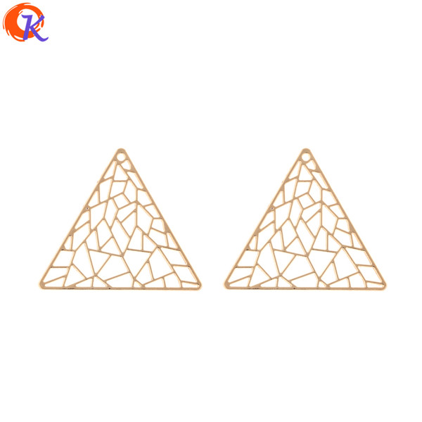 wholesale 100Pcs 39*34MM Jewelry Making/Earring Connectors/Nets Triangle Shape/DIY Accessories/Hand Made/Earring Findings