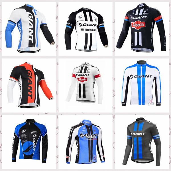 GIANT Respirável desgaste da equipe Ciclismo manga comprida jersey homens quick-dry bicicleta MTB roupas de Esportes Ao Ar Livre 517042