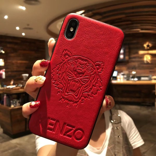 sneakers for cheap 4b05e bd1cc Luxury Designer Phone Cases For Iphone 6 7 8 Plus XR PU Leather Imprint  Patterncurve Cover For Iphonex Xs Max Models Designer Phone Cover Cute  Phone ...