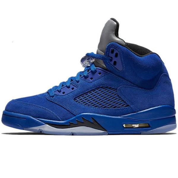 A3 blue suede