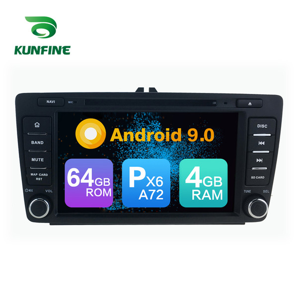 Android 9.0 Core PX6 A72 Ram 4G Rom 64G Car DVD GPS Multimedia Player Car Stereo For SKODA OCTAVIA Radio Headunit