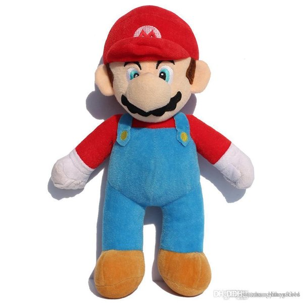 Wholesale-25/37/42cm 10inch Super Mario Bros Soft Plush MARIO LUIGI MARIO PLUSH DOLL For Children kids birthday Gifts Free Shipping