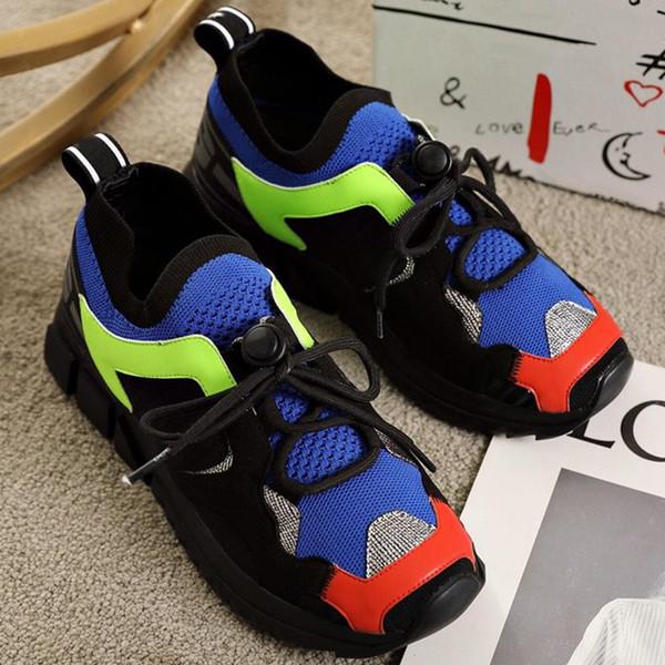 Sneakers Trekking in materiali misti multicolore Moda uomo Scarpe di lusso firmate Sneakers Klassische Sneaker Trekk da donna con scatola