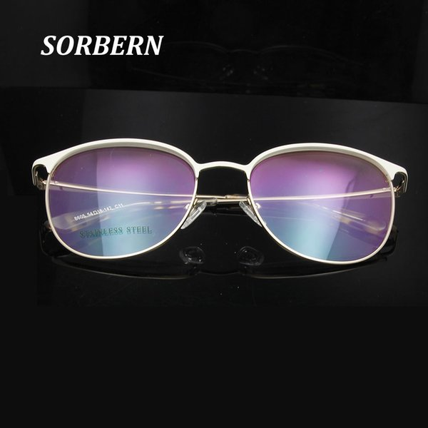 SORBERN High Quality Vintage Round Eyeglass Frames For Women Trends Retro Glasses Optical Lens Glass Prescription Eyewear Frame