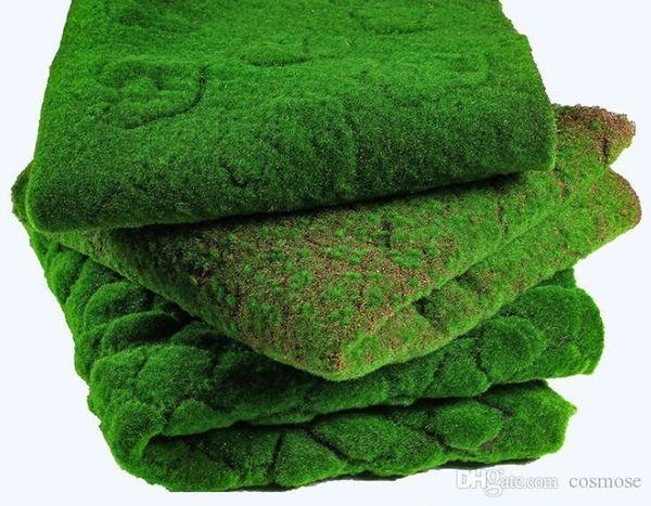 Grama artificial Gramado Falso Musgo Simulação Planta Verde Parede Moss Folhagem Artificial para Decoração de Casamento Em Casa