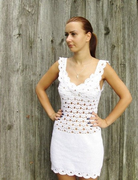 Compre Vestido Nupcial De Algodón Para Mujer Vestidos De Novia Vestido De Verano Blanco De Crochet Vestidos De Niña Vestido De Encaje De Ganchillo