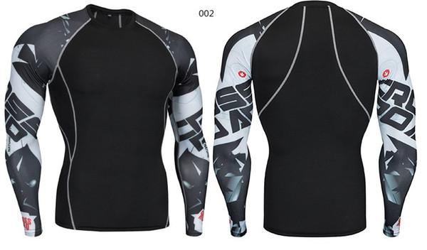 Costume d'entraînement de football T-shirt de sport Imprimé à manches longues pour hommes Running Running Training Fitness Casual Casual Stretch Respirant Sweat Suit serré
