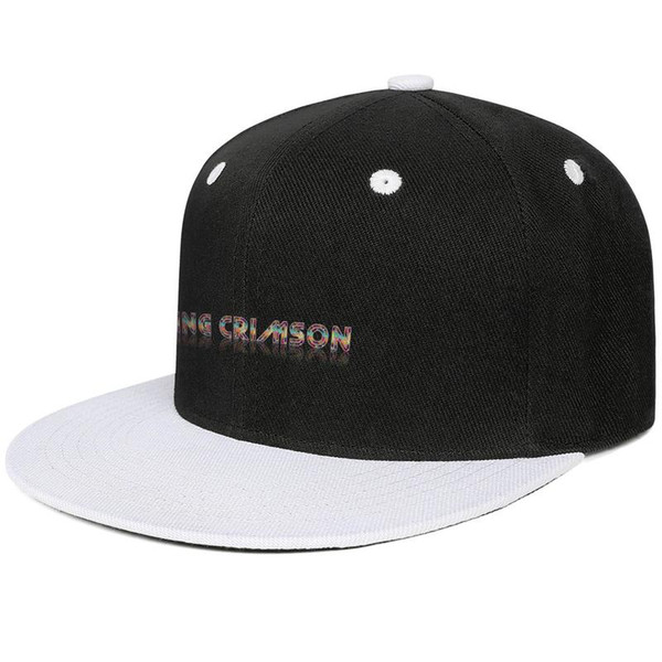 King Crimson logo Design Hip-Hop Cap Snapback Flat Brim Trucker Hats Comfort Adjustable