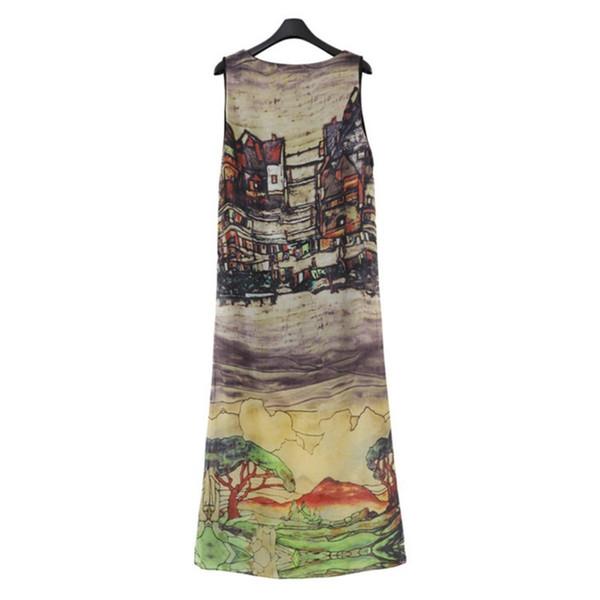 Sexy Vestidos Party Dresses Large Size Dress Women Sleeveless Boho Mid-Calf Dress Beach Prom Gown Sundress #394559