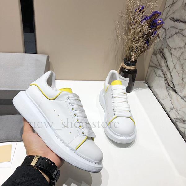 Nouveau Mens Femmes De Mode De Luxe Plate-Forme Chaussures Plat Casual Lady Marche Baskets Casual Lumineux Fluorescent 3 M Chaussures Réfléchissantes En Cuir