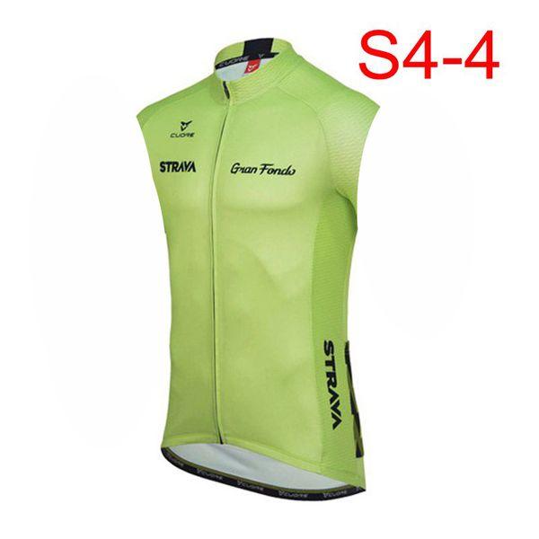 STRAVA team Cycling sans manches en jersey Gilet Confortable respirant séchage rapide Polyester Tops SportsOutdoors Vélo vêtements homme Y52934