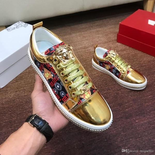 2019 nouvelles chaussures de sport sauvages chaussures pour hommes personnalisés de la marque de mode exterieurs chaussures plates facture boîte originale livraison rapide