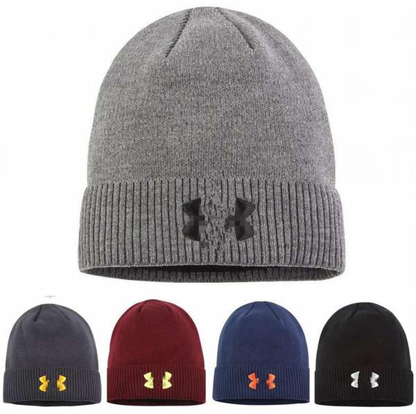 Unisex Şapka Yün Beanie Kış Sıcak Erkekler Kadınlar Kafatası Logo Baskı Ile açık Caps Kayak Kayak Snood Şapkalar Sokak Hip Hop Örme Kap LJJA2760