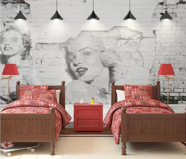 Nostalgic Brick Wall Chandelier Lotus Monroe Background Wall Wallpaper For Walls 3 D For Living Room Beach Wallpapers Beautiful Wallpaper From