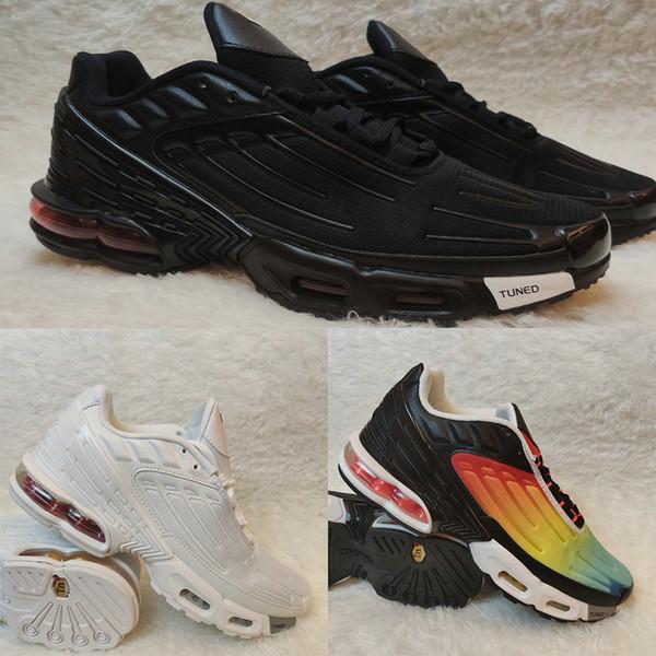 Popüler Artı TN 3 Koşu Ayakkabı Erkekler Kadınlar Eğitmenler Sunset Siyah Beyaz Hiper Mavi Mens Sneakers Koşu womens Spotlar