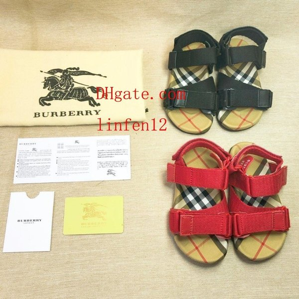Kids sneakers Sandals cute cartoon letter print fashion toddler shoes Boy Girl rubber summer sole Non-slip beach Slide Sandal Ni-k19