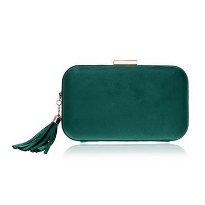 Quaste Mode Frauen Abendtaschen Samt Weiches Material Gemischte Farbe Kleine Kupplung Geldbörse Schulter Kette Party Hochzeit Tasche