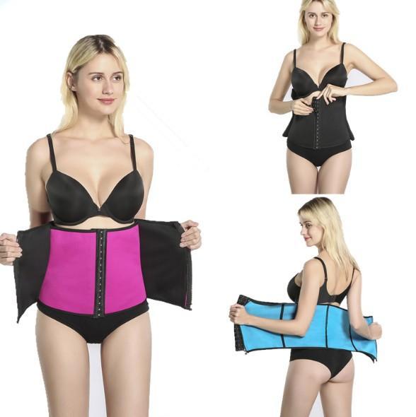 Bodysuit Womens Abdomen Belt Waist Trainer Tummy Slimmer Shapewear Training Corsets Cincher Body Shaper Bustier free Shipping