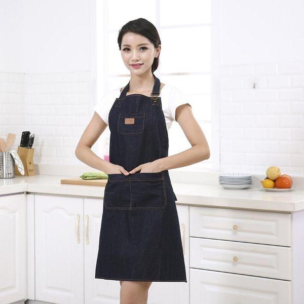 Heiß! Küchen-Denim-Arbeits-Schutzblech, das Kochkünstler-Kellner Pocket Adjustable Tablier kocht neu