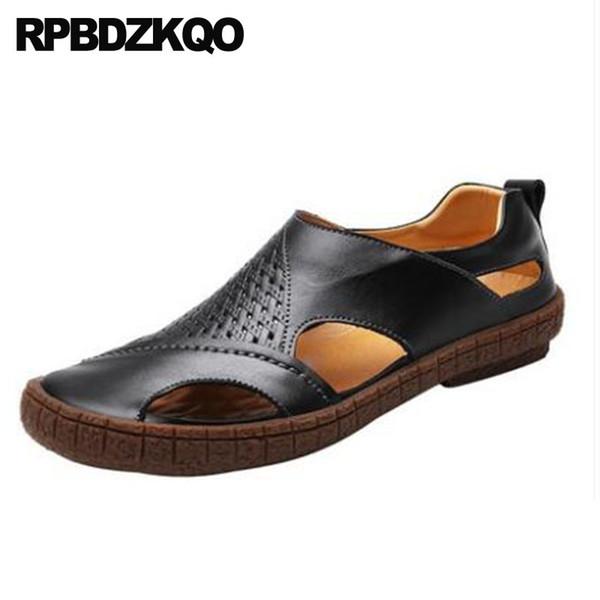 Compre Zapatillas De Deporte De Punta Cerrada Sandalias De Vestir Marrón Plataforma Deportiva Zapatos De Diseñador Hombres Alta Calidad Suave Lujo