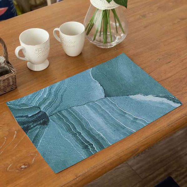 Fuwatacchi Kichen Coppa Coasters tovagliette per Dining Table Cotone Lino antiscivolo Mats Accessori cucina decorativi per la casa Pats