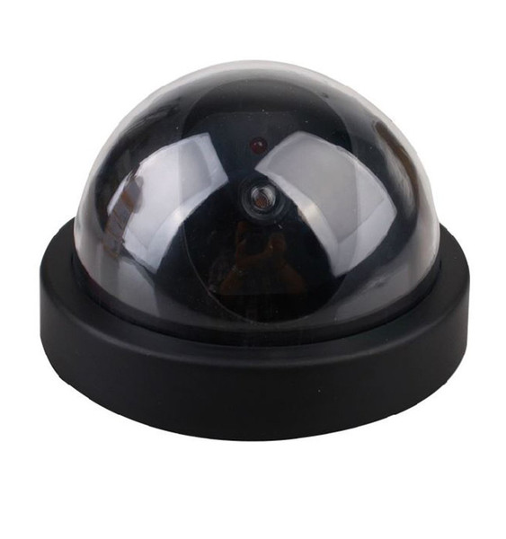 New Arrivals Outdoor Indoor ABS Surveillance Camera Dummy Fake CCTV Security Dome Camera with Flashing Red LED Light